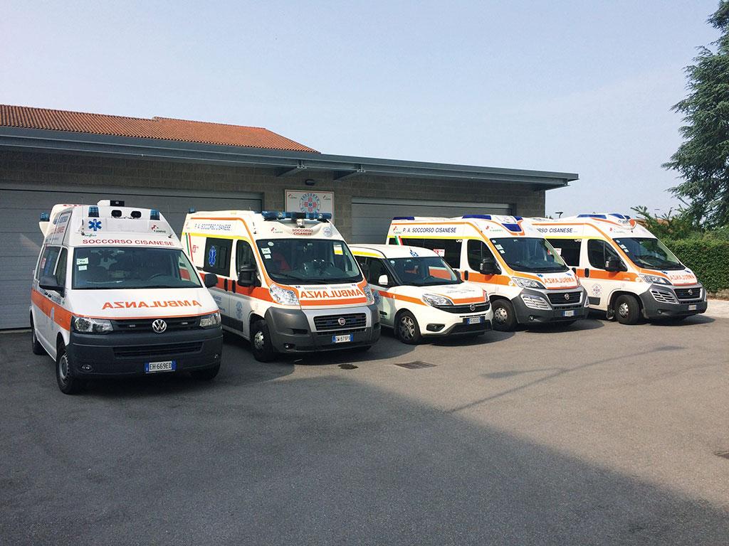 parco mezzi soccorso cisanese